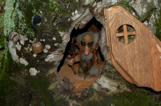 Toby Troll lives in a tree in Charlavoix, Michigan.