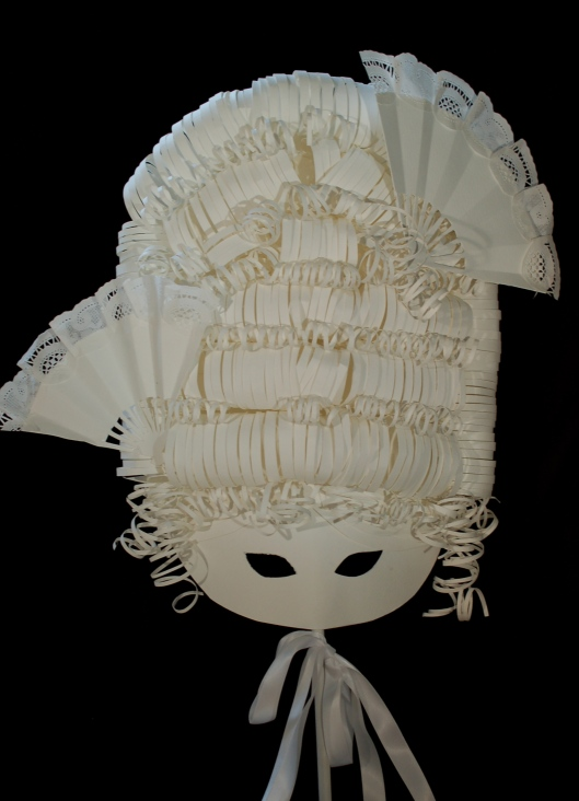 Paper mask by Kaki Valerius Smith.