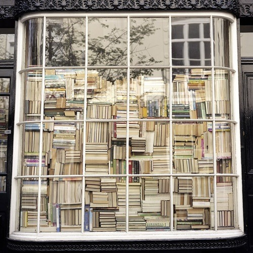 Books in a shop window