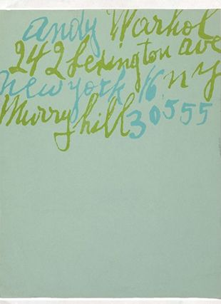 Best Accessory: Andy Warhol's personal stationary. Found on ilinkacollection.com